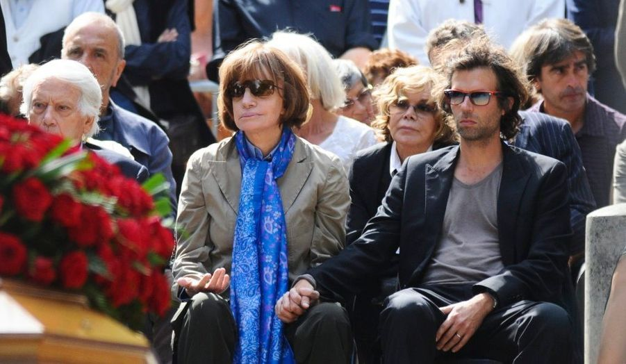Nadine Trintignant, entourée de ses proches