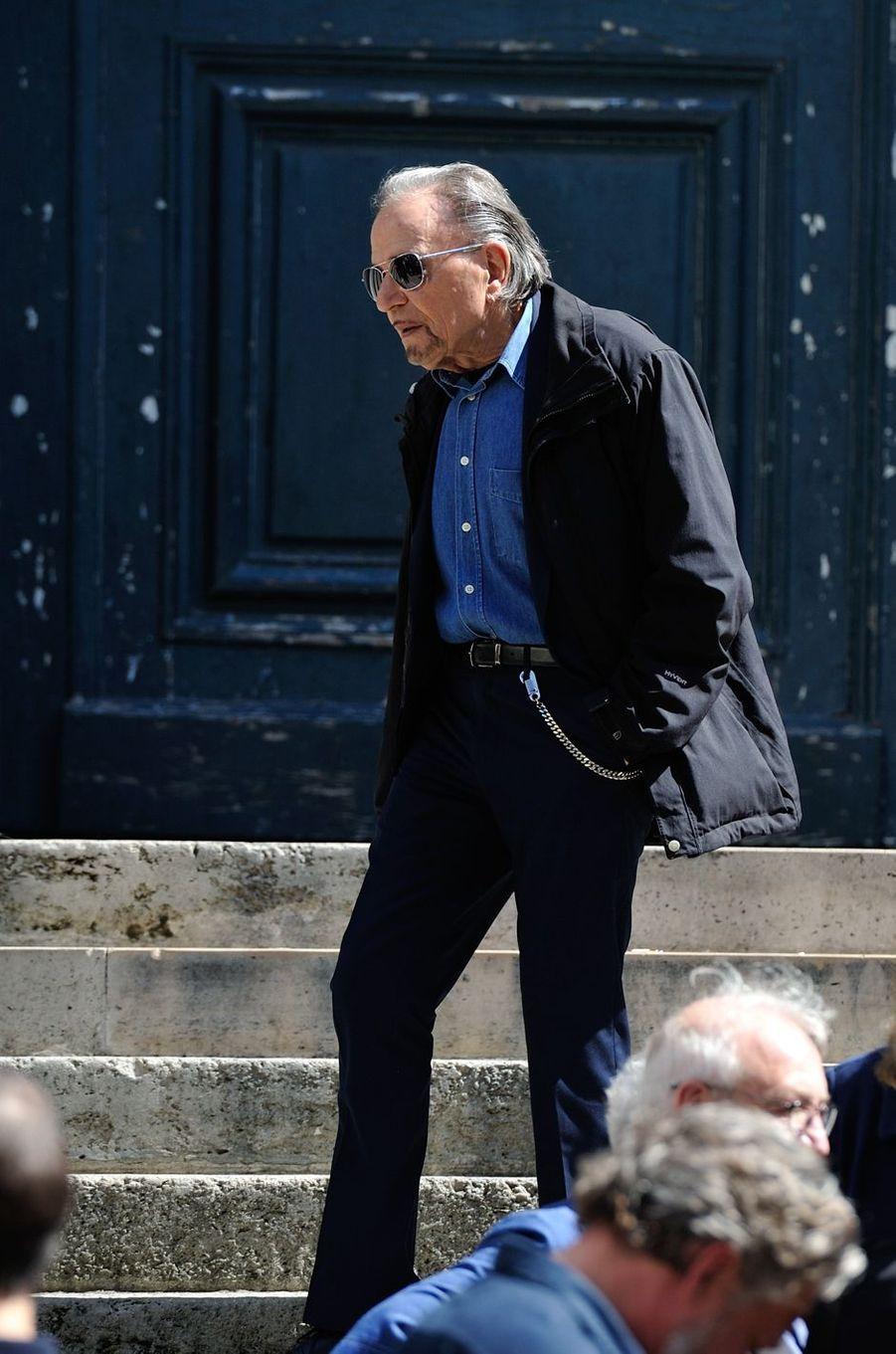 Jean-Pierre Khalfon aux funérailles de Roger Dumas à Paris, le 7 juillet 2016.
