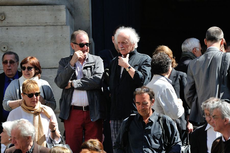 Les funérailles de Roger Dumas à Paris, le 7 juillet 2016.