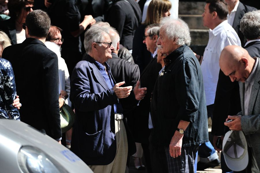 Philippe Laudenbach aux funérailles de Roger Dumas à Paris, le 7 juillet 2016.