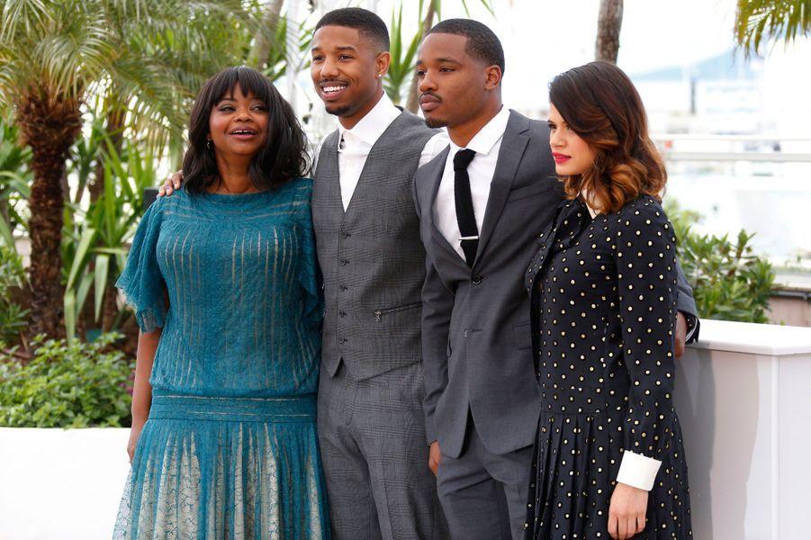 10 mai : la Masterclass de Ryan Coogler («Black Panther»), ici à Cannes pour «Fruitvale Station» (deuxième en partant de la droite).