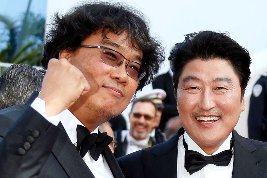 Bong Joon-ho et son acteur Song Kang-ho pour «Parasite».
