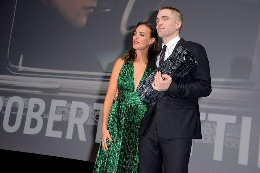 Bérénice Bejo et Robert Pattinson samedi soir à Deauville.