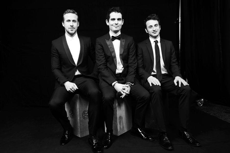 """Ryan Gosling, Damien Chazelle et Justin Hurwitz pour """"La La Land"""""""