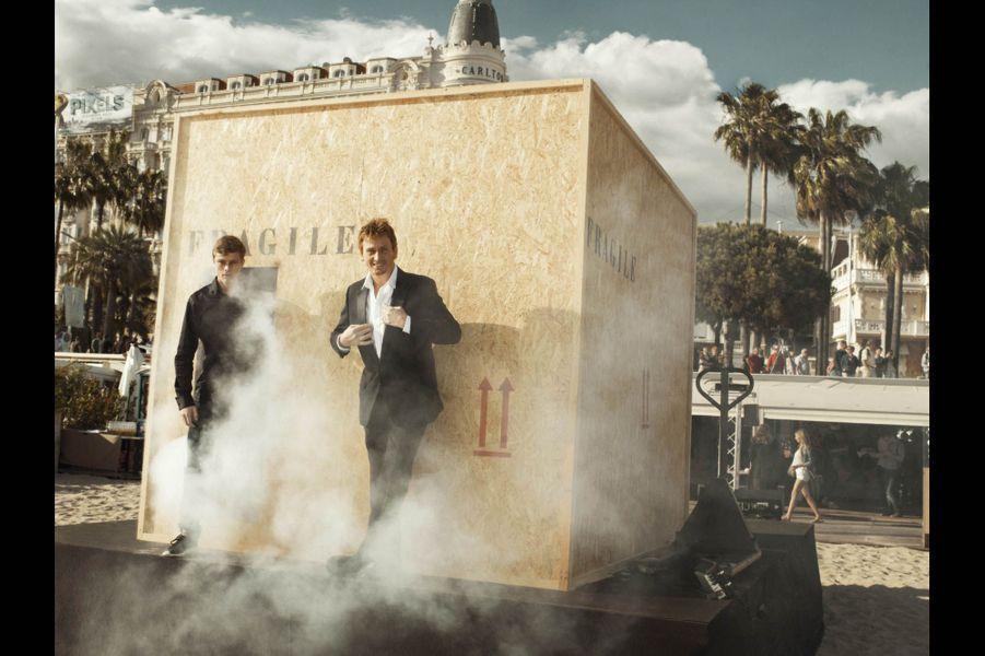 Rod Paradot et Benoît Magimel présentent « La tête haute »Festival de Cannes 2015