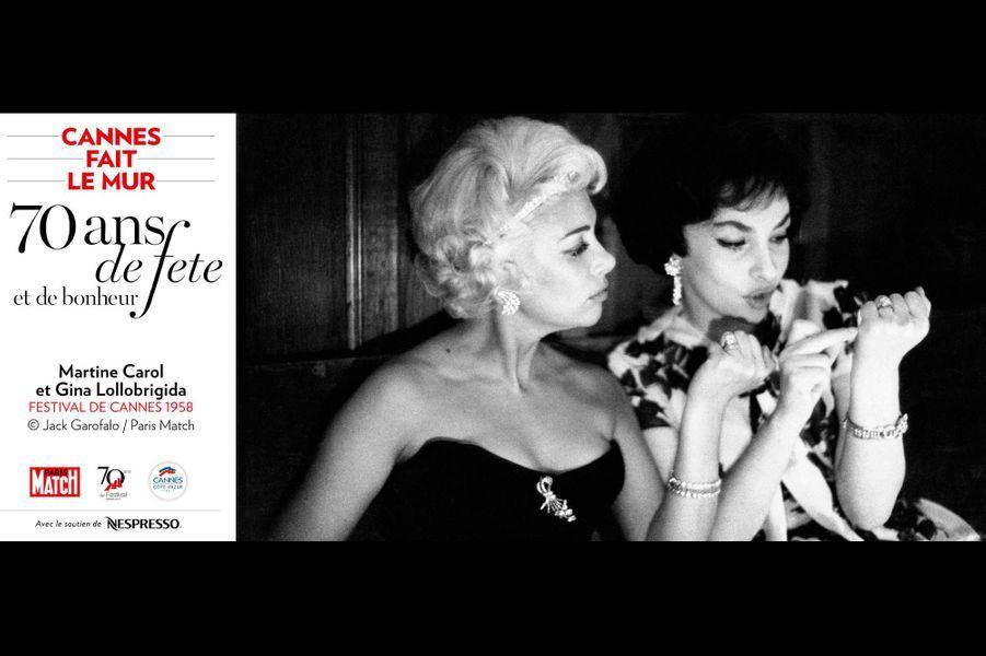 Martine Carol et Gina Lollobrigida Festival de Cannes 1958