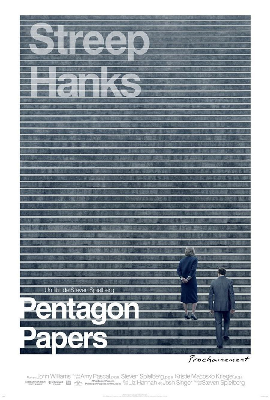 """Pentagon Papers""L'ode au quatrième pouvoir de Steven Spielberg raconte la publication en 1971 par le Washington Post des Pentagon Papers, des documents secrets exposant les mensonges du gouvernement américain sur la guerre du Vietnam."