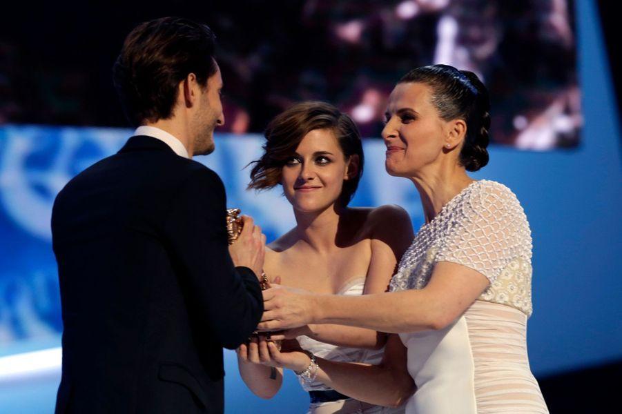 Pierre Niney, Kristen Stewart et Juliette Binoche