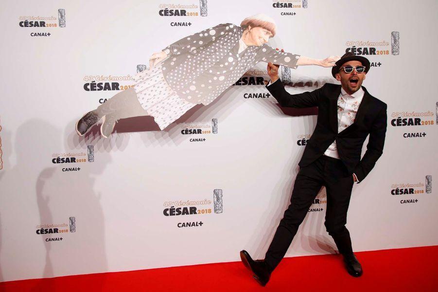 JR et Agnès Varda (en carton)