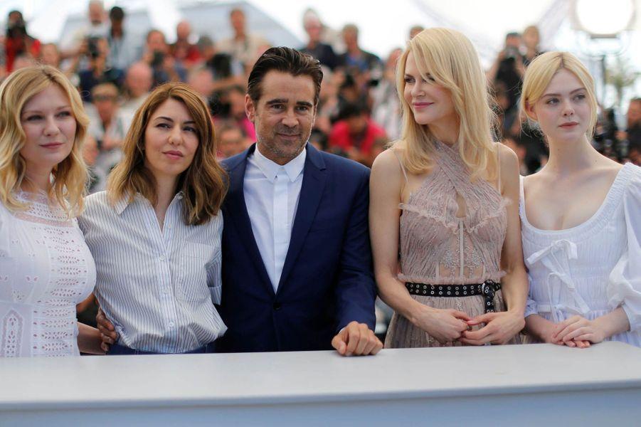 Kirsten Dunst, Sofia Coppola, Colin Farrell, Nicole Kidman et Elle Fanning