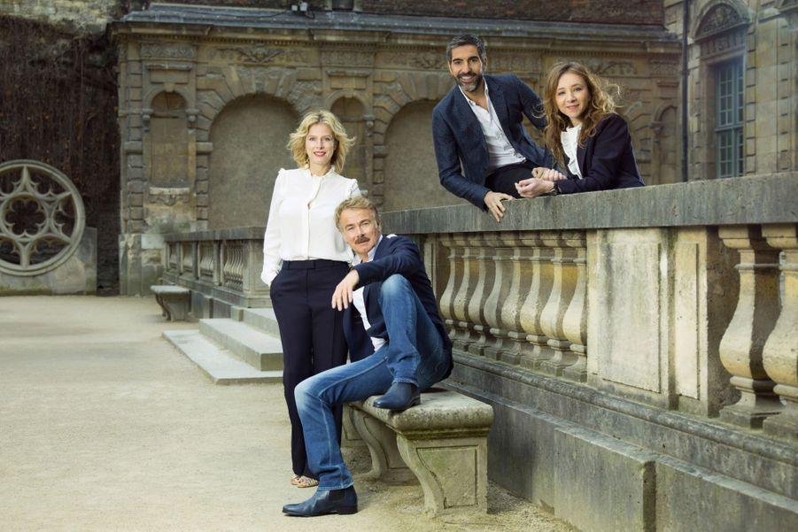 La relève : Karin Viard, Franck Dubosc, Ary Abittan et Sylvie Testud. Aucun n'a hésité avant d'accepter l'invitation de la Gaumont.