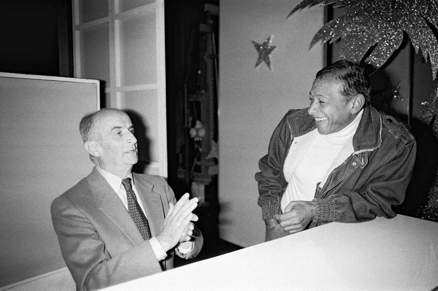 Louis de Funès avec son ami Henri Salvador, en 1982.