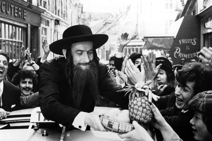 Louis de Funès sur le tournage des «Aventures de Rabbi Jacob».
