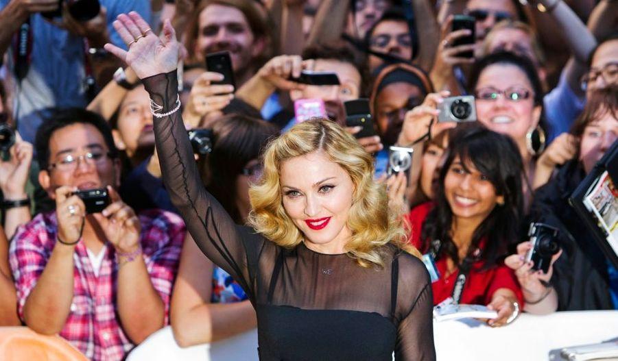 """La star présentait son dernier film en tant que réalisatrice, """"W.E""""."""