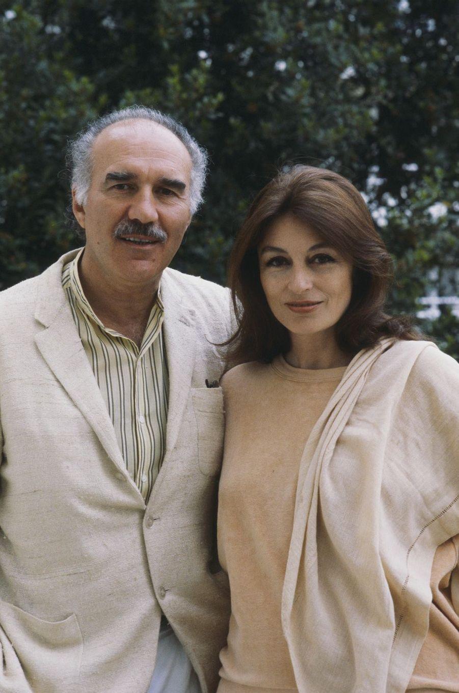 Michel Piccoli et Anouk Aimée, en mai 1980.