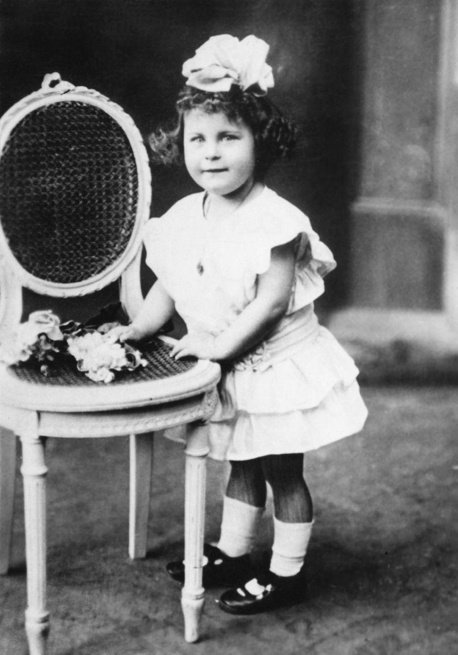 Michèle Morgan, à 2 ans.
