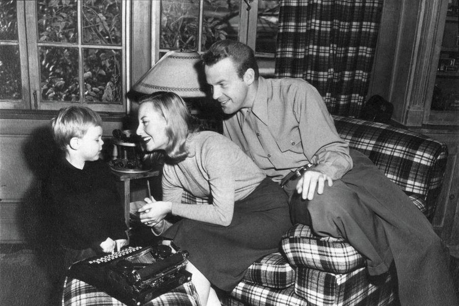 Michèle Morgan, son premier mari Bill Marshall et leur fils Mike.