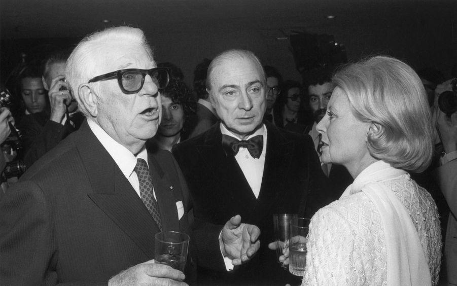 Michèle Morgan et son ami fidèle Jean Gabin pour la première nuit des César en 1976.