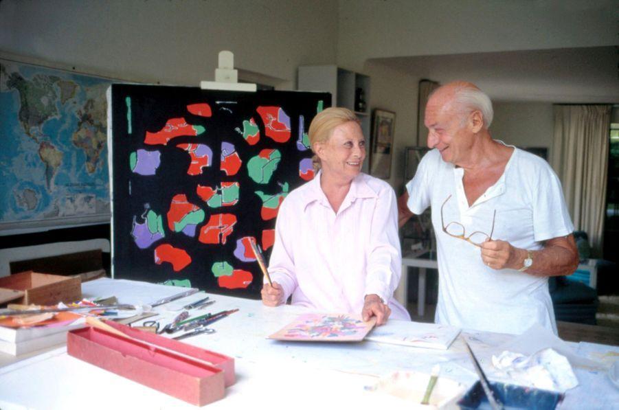 Avec Gérard Oury, à Saint-Tropez.