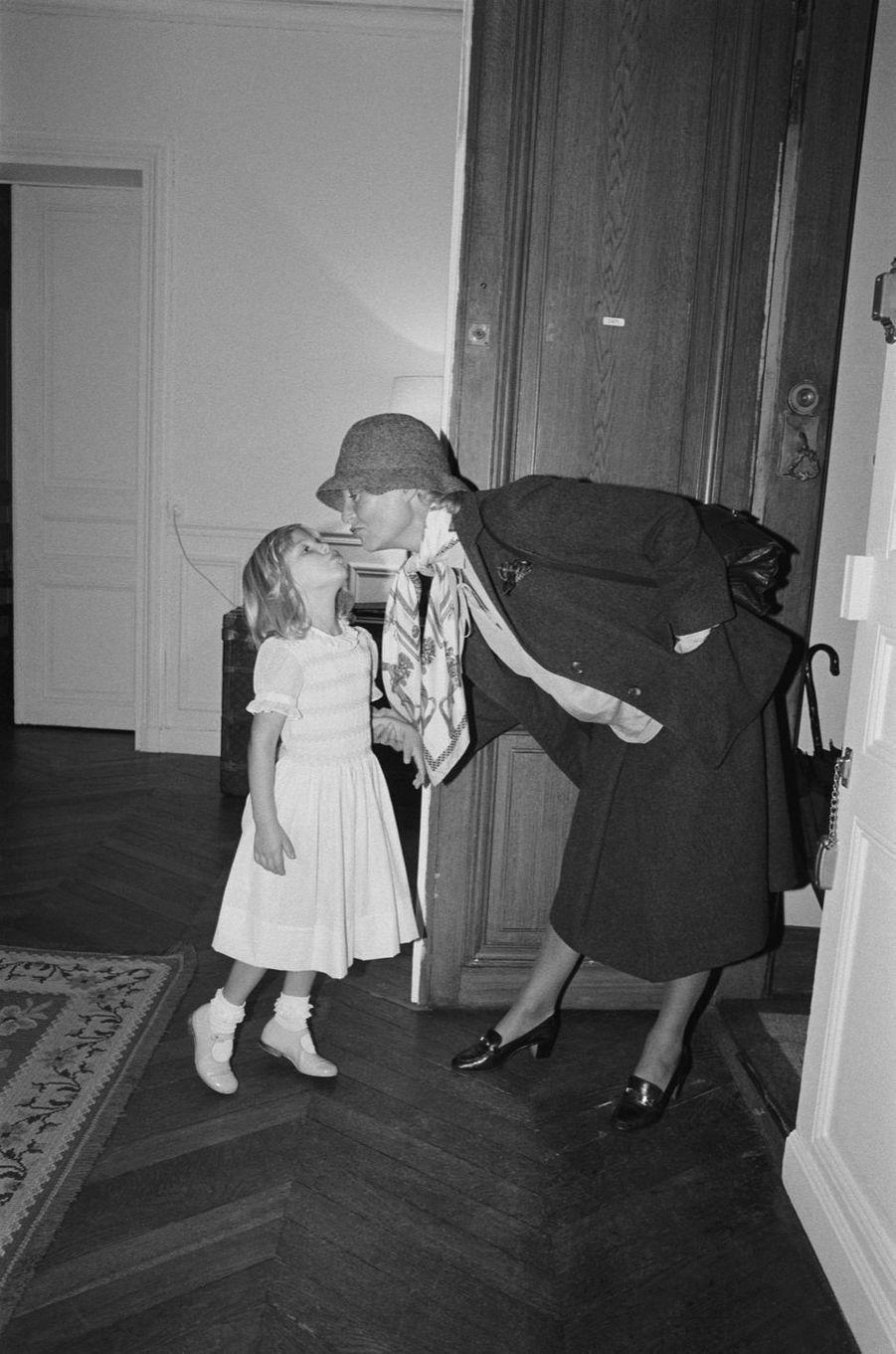 Michèle Morgan et sa petite-fille, Deborah.