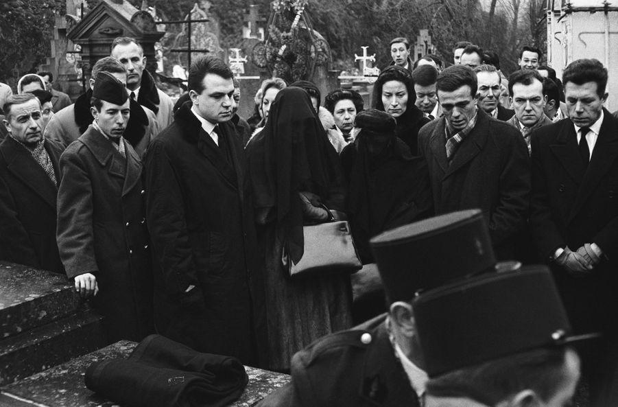 Les obsèques de Henri Vidal à Pongibaud, en 1960.