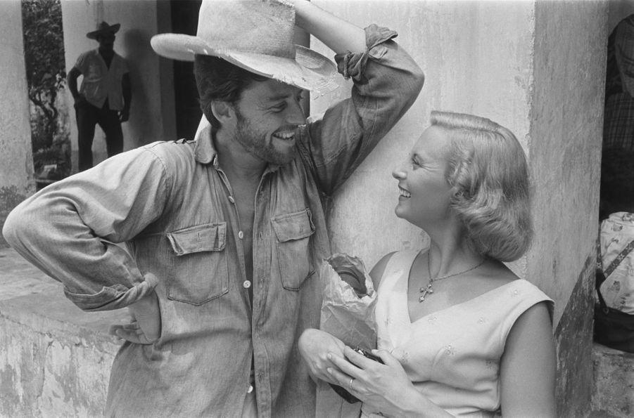 Michèle Morgan sur le tournage des «Orgueilleux».