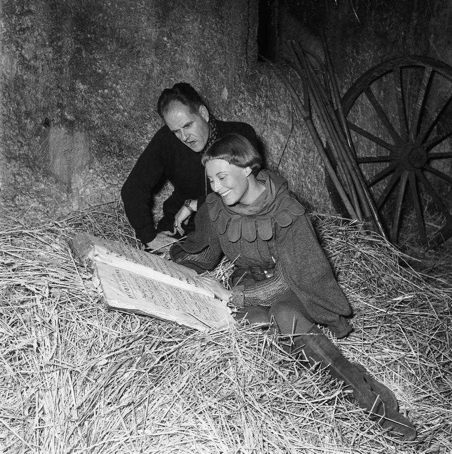 Michèle Morgan sur le tournage de «Jeanne d'Arc».