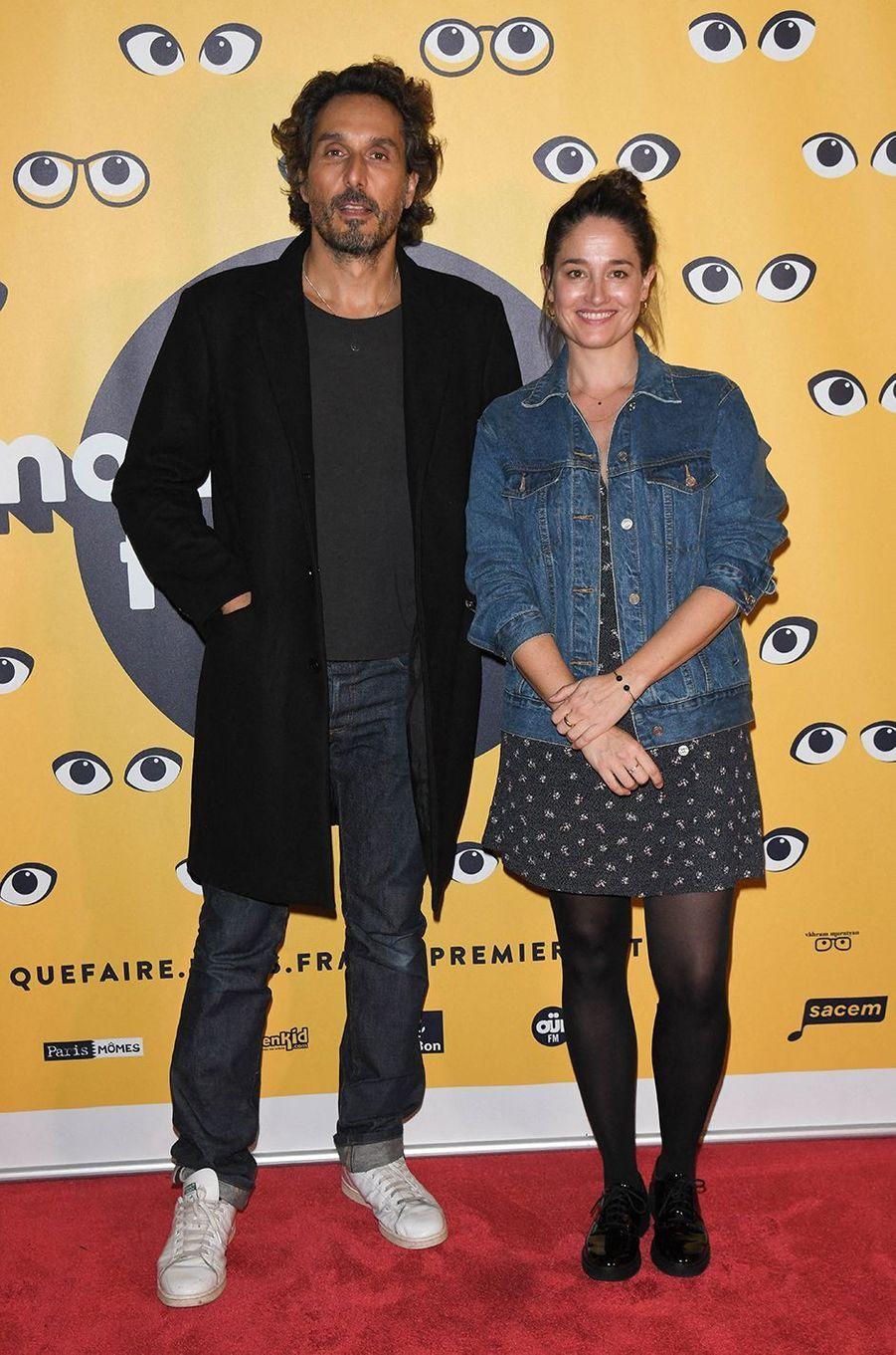 Vincent Elbaz et Marie Gillainpour la présentation du film «Mystère» lors de la 16e édition de Mon Premier Festival au Forum des Images à Paris le 21 octobre 2020