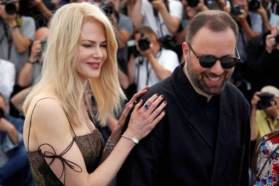 """Nicole Kidman et Yorgos Lanthimos, le réalisateur de """"Mise à mort du cerf sacré"""""""