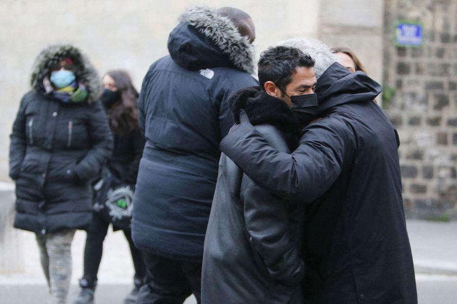 Jamel Debbouzeaux obsèques de Jean-Pierre Bacri à Paris le 26 janvier 2021