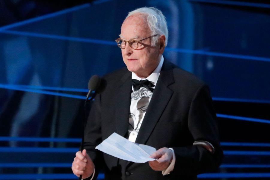 "James Ivory, Oscar du meilleur scénario adapté pour ""Call me by your name""."