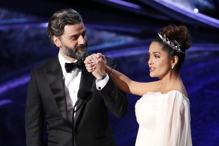 Oscar Isaac et Salma Hayek