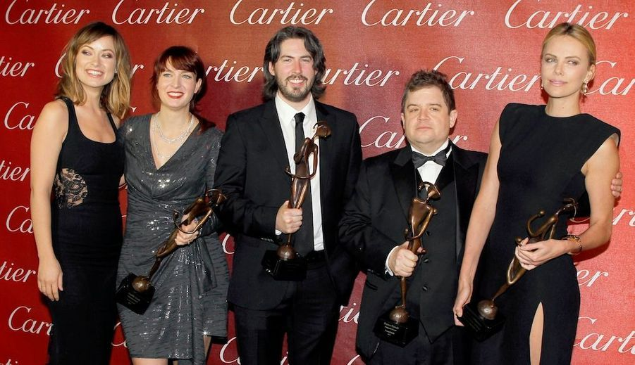 De gauche à droite:Olivia Wilde Jason Reitman, Patton Oswalt, et Charlize Theron.