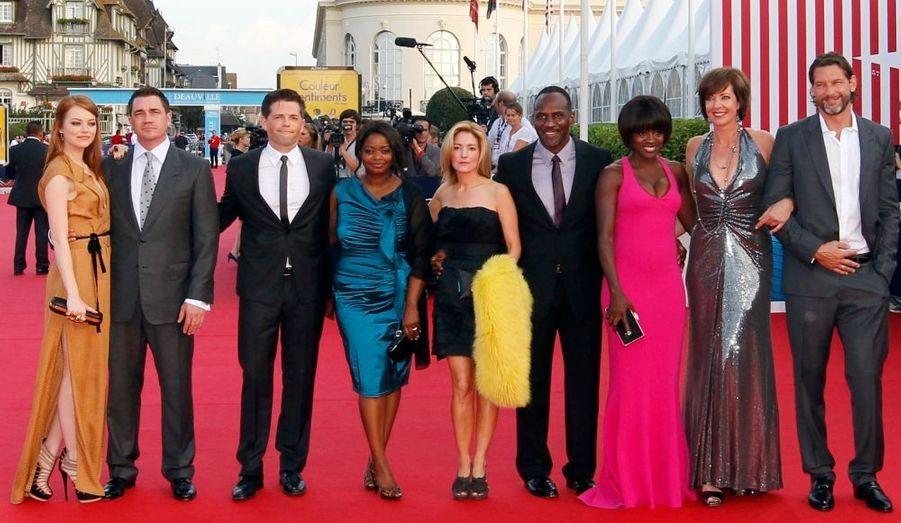 Le film-événement de la fin de l'été aux Etats-Unis a fait l'ouverture du Festival de Deauville. La distribution était au rendez-vous, avec la magnifique Emma Stone - à gauche.