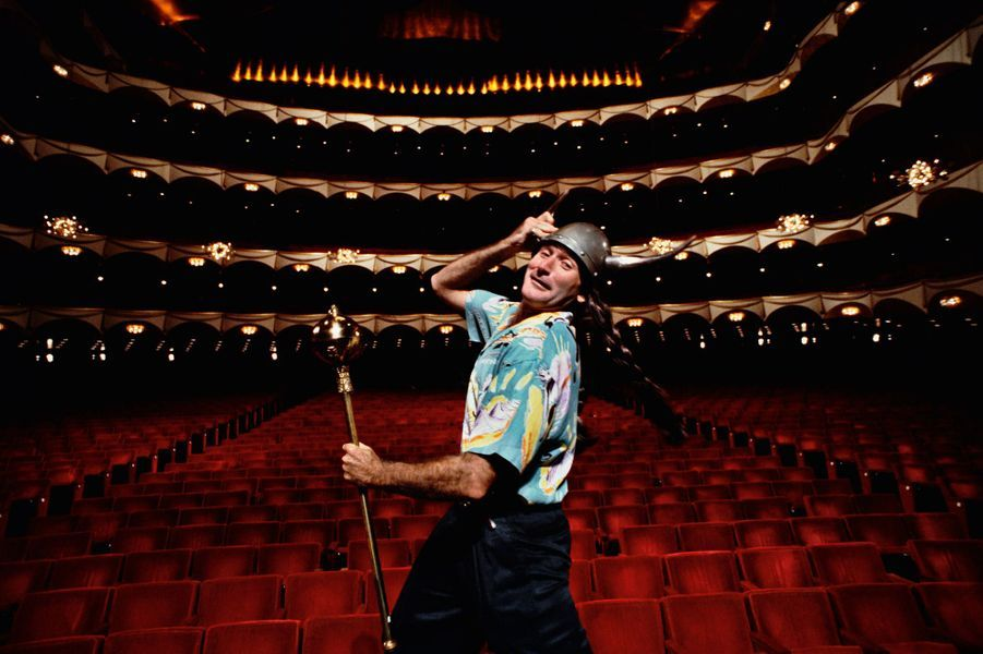 On Stage Of The Met Opera House During Publicity Shoot