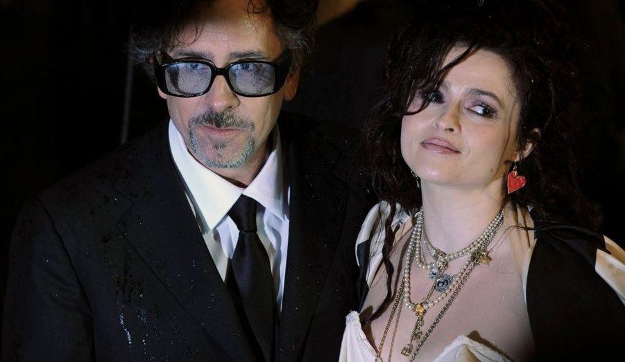 Tim Burton et Helena Bonham-Carter, son épouse