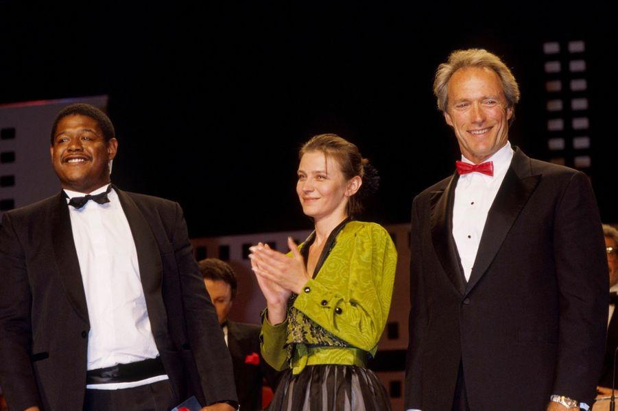 Forest Whitaker, Elena Safanova et Clint Eastwood