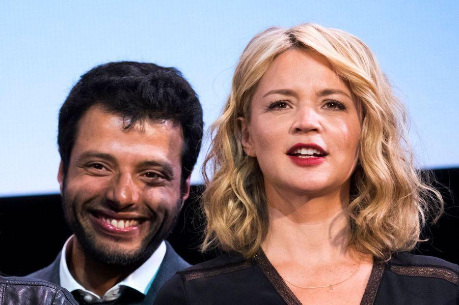 Virginie Efira et son compagnon Mabrouk El-Mechri lors de l'ouverture du 8e Festival Lumière de Lyon.