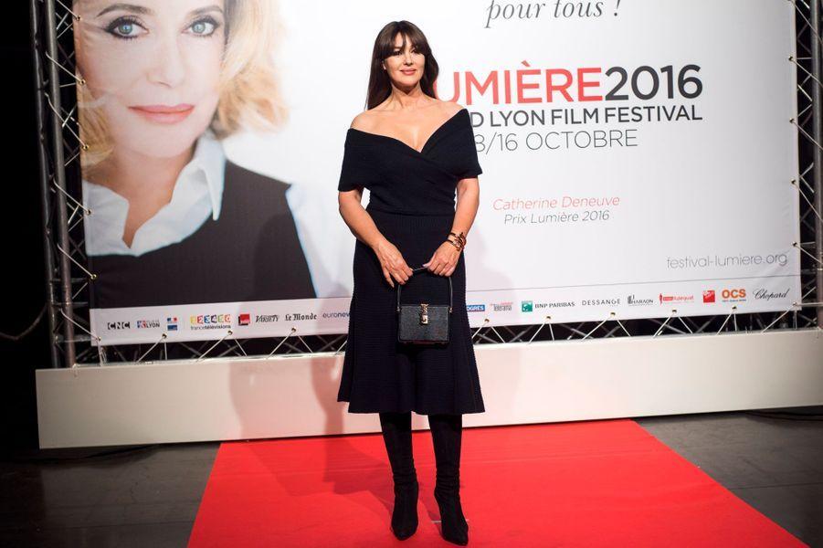 Monica Bellucci lors de l'ouverture du 8e Festival Lumière de Lyon.