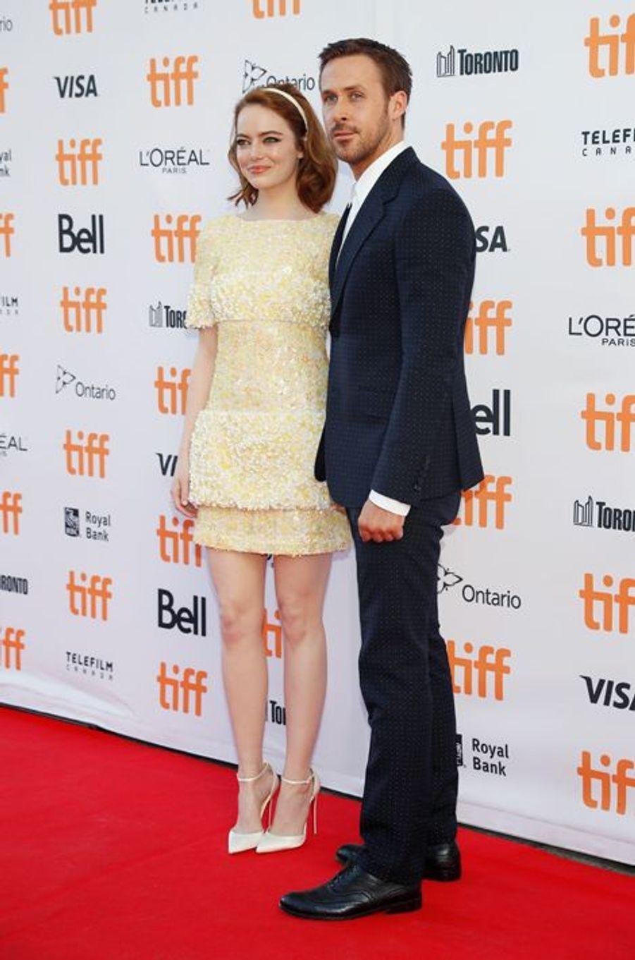 """Ryan Gosling et Emma Stone à Toronto pour """"La La Land""""."""