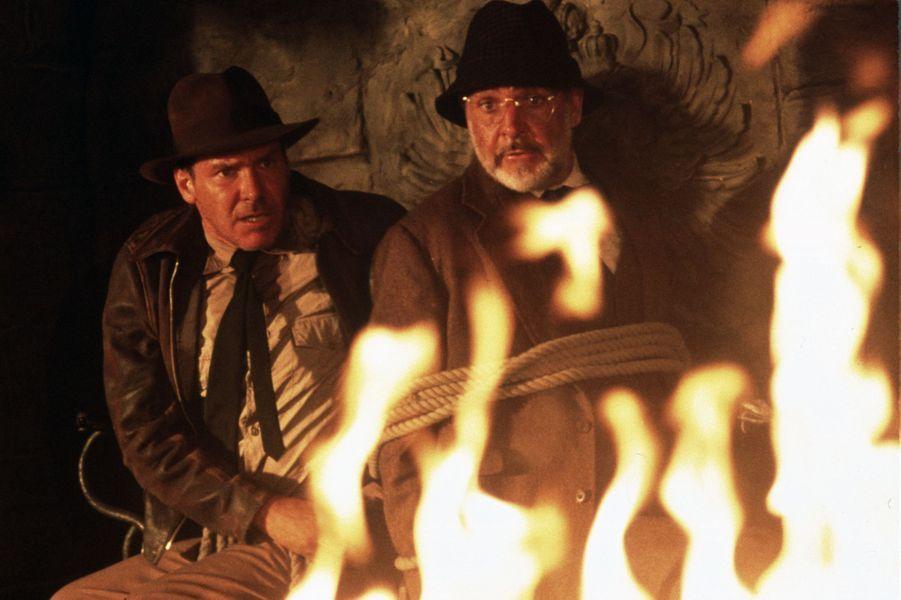 1989 : Sean Connery dans «Indiana Jones et la dernière croisade» de Steven Spielberg avec Harrison Ford