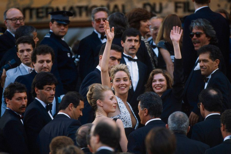 Sharon Stone à Cannes.