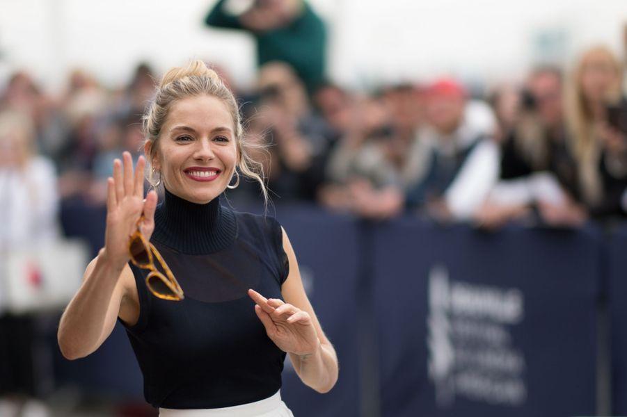 Sienna Miller lors du 45e Festival de Deauville