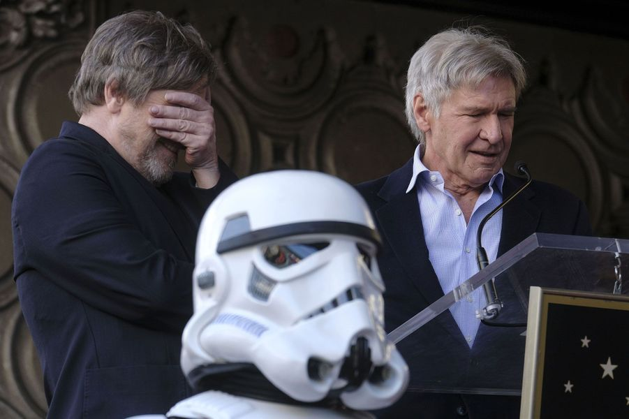 Mark Hamill et Harrison Ford