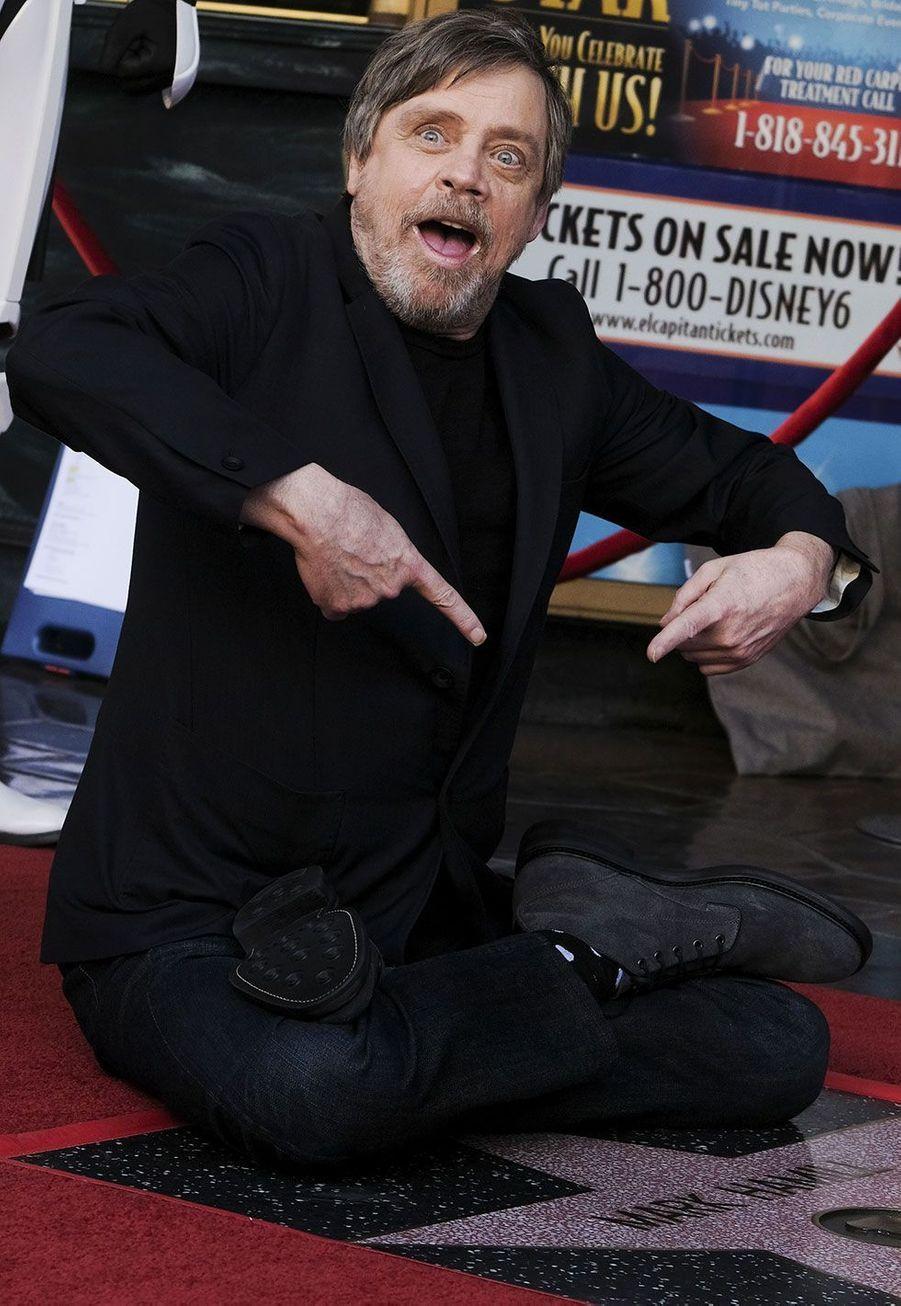Mark Hamill a inauguré son histoire sur Hollywood Boulevard