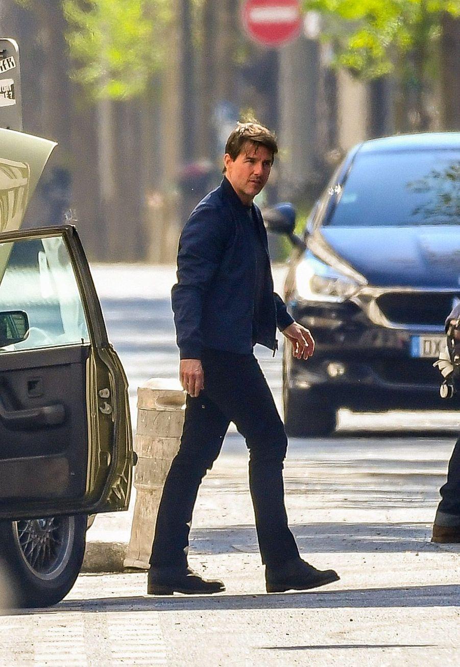 """Tom Cruise sur le tournage de """"Mission Impossible"""" à Paris, dimanche"""
