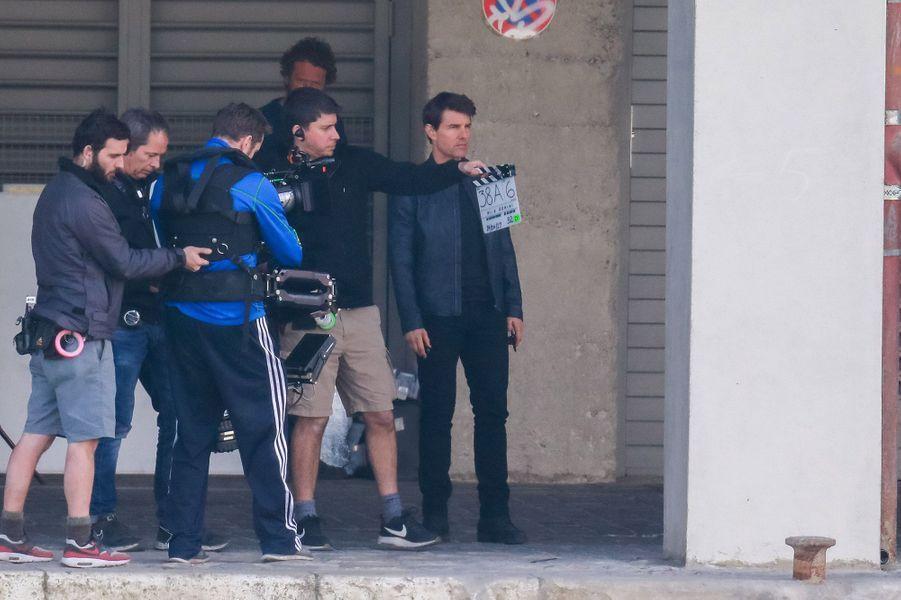 """Tom Cruise sur le tournage de """"Mission Impossible 6"""" à Paris"""