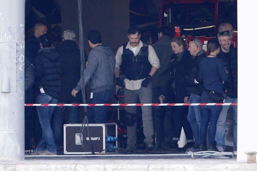 """Henry Cavill sur le tournage de """"Mission Impossible 6"""" à Paris"""