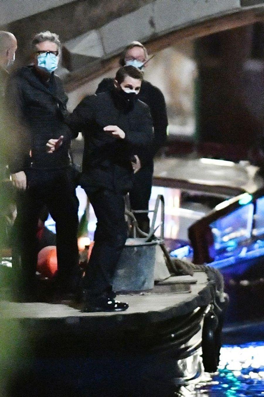 Tom Cruise sur le tournage du septième volet de la saga «MissionImpossible » à Venise, en novembre 2020.