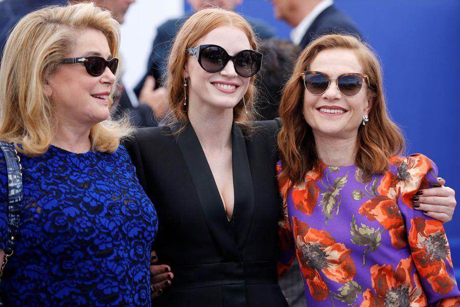 Catherine Deneuve, Jessica Chastain et Isabelle Huppert